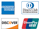 AMERICANEXPRESS、Diners Club、Discover、銀聯
